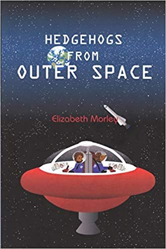 Front cover for the book Hedgehogs from Outer Space by Elizabeth Morley