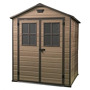 Keter Scala 6x8 Plastic Garden Tool Shed Brown