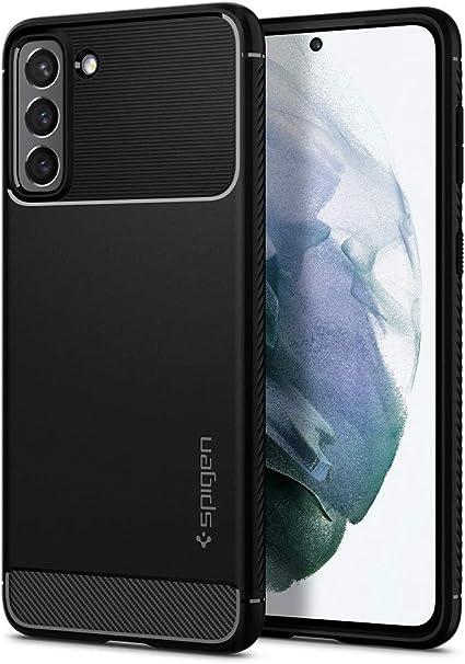 Spigen Rugged Armor Case Compatible with Samsung Galaxy S21 - Matte Black